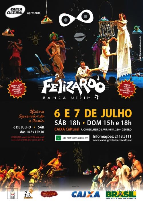 Musical Felizardo, da Banda Mirim de SP, estará na Caixa Cultural de Curitiba