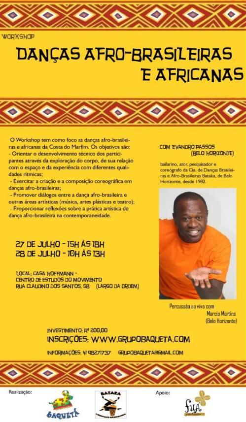 Workshop de danças afro-brasileiras e africanas em Curitiba