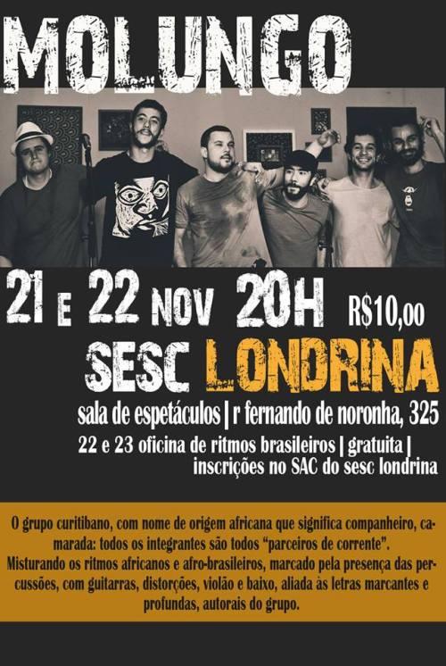 Molungo faz show no Sesc Londrina